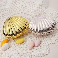 웨딩 호의 상자 선물 포장 DIY 밝은 색상 셸 모양 파티 용품 깜짝 사탕 보관소 티 타임 생일 보석 케이스 OWE5739