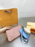 الثلاثي حقيبة الحقيبة الثلاثية 3 مجموعات ثلاثة الحقائب مصمم المرأة حقيبة يد جلدية المصممين الفموي من بركة الصيف 2021ss مقبض محفظة المنظم محافظ M80407