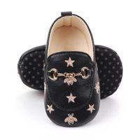Baby Boy Shoes para 0-18 m com abelhas estrelas recém-nascido bebê casual sapatos toddler infantil infantil sapatos de algodão macio soa mocassins