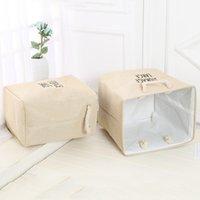 Durevole impermeabile lavanderia cestino cestini scatola pieghevole portatile cotone lino pieghevole sacchetto di archiviazione panno giocattolo snack stoccaggio BC BH0656-2