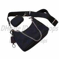 En Kaliteli Lüks Tasarımcılar P Çanta Hakiki Tote Çanta Kadın Moda Omuz Üç-in-Bire Zincir Debriyaj Çanta Çanta Kayışı Mini Crossbody Çanta Çanta Çanta Çanta