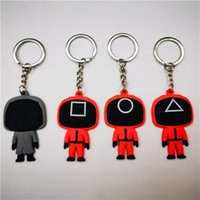 Party Favor 7Styles Squid Game Keychain Soldier Spopular Series Toy Car Keychains 3D Mini Doll Key Ring Backpack Pendant #X1008C