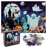 Halloween Jigsaw Puzzles 1000 Pieces for Adults Kids-Castle Premium Quality Puzzle Game Toys DIY Collectibles Modern Home Decoration
