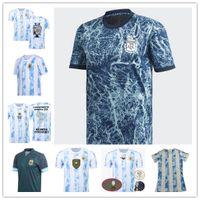 21 22 Argentina Fútbol Jerseys Versión 2021 20222 Copa Messi Dybala Aguero Lo Celso Martínez TagliAfico Jersey Hombres Mujeres Niños Camisa Fútbol Capacitación