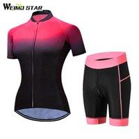Гоночные наборы WeiMostar Женский спорт Велоспорт Джерси набор с коротким рукавом велосипедная одежда Pro MTB дорожный велосипед ROPA Ciclismo