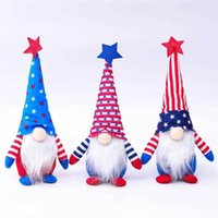 Party Favor 4th of July Dwarf Doll American Independence Day Patriotic Gnome Stars and Stripes Handmade Scandinavian Doll Kids Gifts Home Decor