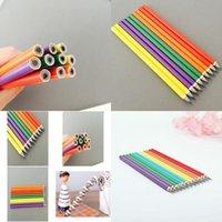 أقلام ملونة تظليل خردج قلم دينغ مبتدئين لطيف فتاة مشهد رسم قوس قزح القلم للأطفال qylspl