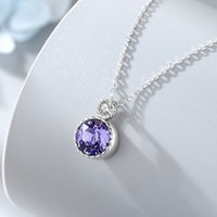 Ocean Heart 925 Sterling Silver Necklace Wild Clavicle Chain Female Austrian Crystal Simple High-end Jewelry goods
