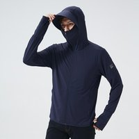 Koşu Ceketler Güneş Kremi Giyim Erkekler ve Kadınlar için Yüzlerini Kaplamak için Açık Spor Anti Ultraviyole Olta Takımı Rüzgar Geçirmez Sürme