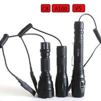 Удаленный выключатель давления Светодиод для охотничьих лампочек Устойчивый аккумулятор T6 Litwod Регулируемый алюминиевый 30W фонарики TOR TOR