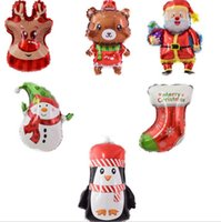 Feuille de Noël Ballons Mini Xmas Tree Balloon Partie Décorative Balloon Enfants Jouets Nouvel An Décor Snowman Santa 15 Designs DW6024