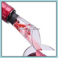 Barware Kitchen, Dining Home & Garden Red Funnel Bottle Pourer Sile Rubber Wine Aerator Decanter Shaker Set Ktv Bar Tools Drop Delivery 2021