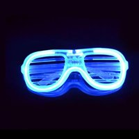 Led 3 Mode Flashing Glow Shutter Glasses EL With Battery For Event Party Supplies EIG88 Fashion Sunglasses Frames