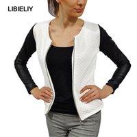 Mulheres Moda Outono Zíper O-pescoço Terno Casaco Jaqueta Senhora Outwear Slim Tops S-XL 7848 Jaquetas das Mulheres