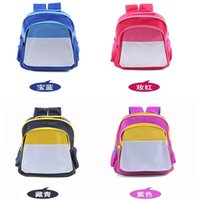 Sublimation Blank Storage bag Printing Backpack personality bags pupil student 19rj Y2
