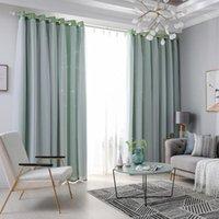 1/2 panneaux Fenêtre rideau de fenêtre double couche Tulle superposition superposée étoiles étoiles drapées maison chambre maison décor salon