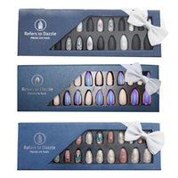 False Nails Nail Art Artificial Detachable Full Cover Fake With Jelly Sticker Tips Press On