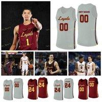 NCAA College Loyola Chicago Ramblers Basketball Jersey 14 Braden Norris Halle 2 Jake Baughman 22 Jesaja Bujdoso Ismall Custom genäht