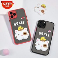 Loft is suitable for Apple 12 mobile phone shell iphone12pro cartoon doll lens all-inclusive frosted skin feeling #bZ12