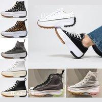2021 Run Star Hike Erkek Kadın Rahat Ayakkabılar Leopar Turuncu Siyah Sarı Beyaz Mor Yüksek Yıldız Klasik Kalın Alt Tuval Ayakkabı Boyutu 36-41