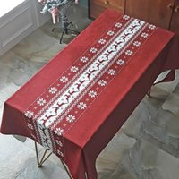 Table Cloth Tablecloth Rectangle Christmas Decorations For Home Red Vover Living Room Tea On The TV Cabinet Dust Vivid Color