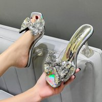 Dress Shoes Ly Arrived Women Pumps Elegant Multi-style Bow Design High Heels 9cm Wine Glass Heel Sandals Slippers Party Big Size 46