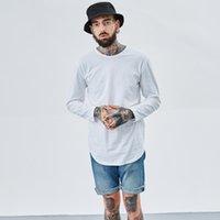 Горячая мужская мода хип-хоп футболка улица носить сплошной цвет Crossfit футболка повседневная Kanye West Harajuku Tops черный белый серый TX144 F3