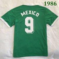 톱 1986 멕시코 레트로 축구 유니폼 M.NEGRETE BLANCO HERNANDEZ 태국어 빈티지 품질 FUTBOL 저지 유니폼 축구 셔츠 Maillot 드 발 Camiseta 셔츠 S-XXL