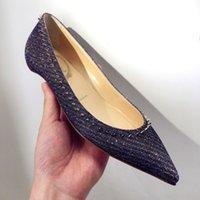 Dress Shos Sapatos individuais d salto com lantjoulas, sapatos salguiro tipo patês boca rasa HT3T