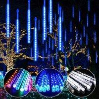 Wverproof 30cm 50 cm 8 tubes de neige chute de neige LED String lumières de métier de métier de métier de métier de métier de métier de pluie de métier de pluie AC100-240V pour mariage de fête de Noël