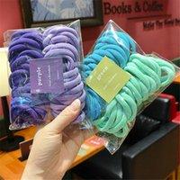 Hair Accessories 50 Set Women Girls 4CM 2CM Colorful Nylon Elastic Bands Ponytail Holder Rubber Scrunchie Headband