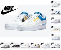 Nike Air Força 1 reagem plataforma clássica baixa swoosh sapatos casuais dunk 1s qs mulheres mulheres triplo branco universidade ouro pacote esportes força uma sapatilhas