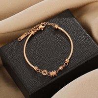 Other Bracelets Titanium steel small waist fadeless Bracelet niche design simple luxury women's versatile jewelry