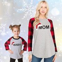 크리스마스 탑스 가족 일치하는 옷 격자 무늬 어머니 딸 스웨터 엄마와 나 의상은 엄마 여자 소년 코튼 스웨터