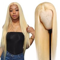 613 Honey Blonde Color Brazilian Straight Lace Front Human Hair Wig 10 - 30 inch Synthetic Frontal Wigs for Black Women