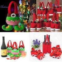 Nette Santa Claus Hosen Grün Santa Elf Tasche Für Weihnachten Treat Candy Taschen Weinstrumpfflasche Geschenk Bag Weihnachten Dekoration Y0913