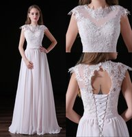 Classical Lace Bridesmaid Dress Long Backless Appliqued Bridal Gowns Chiffon With Bow In The Waist Lace-up