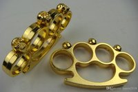 Gear skull and heavy Thickness steel Brass Knuckles Fighting Duster Powerful Self Defense Knuckle Mens Self-Defense tool drop-shipping
