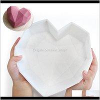 Moldes 2021 Sile Diamond Mold Breakable Heart Moldes para mousse de chocolate Bolo de bolo Xand8 V0EPX