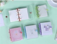 A7 Notepads Clear Multicolor Notebook with Inside Page Diary Journal Note Book Notepad Portable Pocketbook High Quality Wholesale