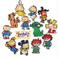 Wholesale Rugrats Cartoon Character Charms for Croc PVC Soft Rubber Shoes Charms Accessories Xmas Gift Sandals