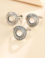 Cluster Rings 925 STERLING SILVER Women Men Semi Mount Bases Blanks Base Blank Pad Ring Setting Wedding Jewelry Findings Diy A5928