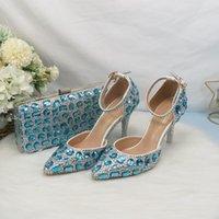Платье Обувь Baoyafang Заостренные носки Дамы Bridal Wedding с подходящими мешками Мода Ремешок на лодыжку Женщины Летняя вечеринка