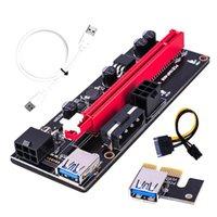 Computer Cables Connectors PCI-E PCIE Riser 009 Express 1X till 16X Extender PCI E USB 009S Dual 6pin Adapter Card SATA 15pin för BTC Miner