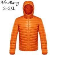 Bang Down Coat Male Ultra Light Down Jacket Men's Warm Jackets Windbreaker Lightweight Coat Feather Puffer Parka Feather Coat 211023