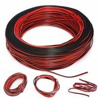 1pc 2pin 10m Automobili Moto Cavo elettrico Cavo del cavo rosso / nero Connettore per LED luce durevole