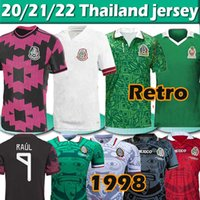 Mexique Football Jerseys Copa America Version Player Version Camiseta 20 21 Chicharito Retro Lozano Dos Santos 86 94 95 98 Jersey Football Hommes + Kit Kit Ensembles Maillots 2021