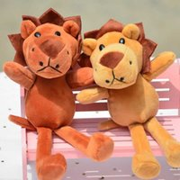 Novo Lifelike Bonito Fevarite Pequeno Leão Criativo Dos Desenhos Animados Boneca De Pelúcia Brinquedo 18cm Pingente Macio Chaveiro Decoração Crianças Presente Engraçado G0913