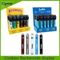 Cookies Backwoods Twist 30 штуки Каждая коробка предварительного нагрева VV батарея 900 мАч для 510 картриджей нижняя напряжение регулируемое USB зарядное устройство Vape Pen