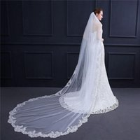 Bridal Veils Arrival 3M Elegant Exquisite High-grade Lace Veil Wedding Long Tail With Comb Cathedral Accessories